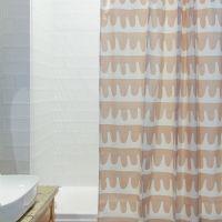 Штора для ванной Popple цвета пыльной розы Cuts&Pieces, 180х200 см TK18-SC0003