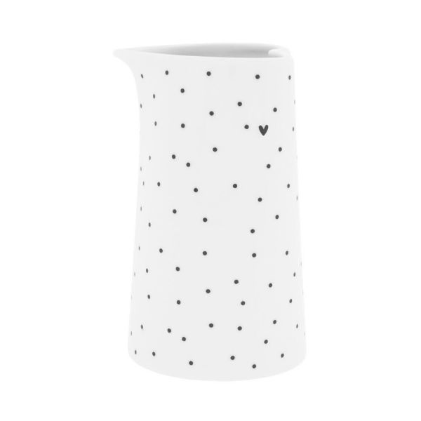 Молочник Bastion Collections White Dots Stripes Нeart малый LI/JUG SM 001 BL Dots