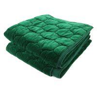 Покрывало стеганое бархатное «Хвойное утро» цвет зеленый TK18-QT0002