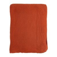 Плед жемчужной вязки терракотового цвета Essential, 180х220 см TK18-TH0008