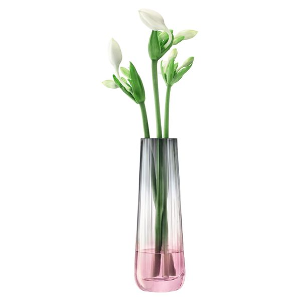 Ваза Dusk 20см розовая-серая G1400-20-152