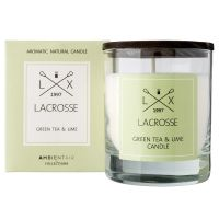 Свеча ароматическая в стекле «Зеленый чай & Лайм» 8x8 см 600 г VV040TVLC