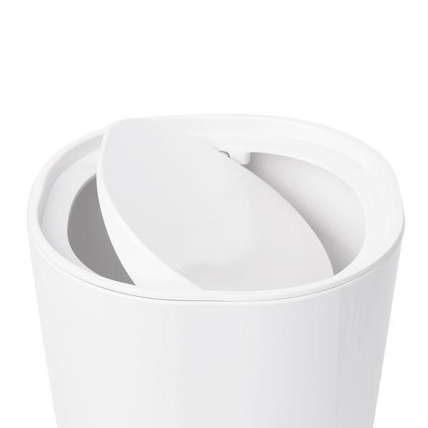 Контейнер мусорный с крышкой Step белый 023840-660