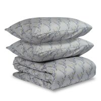 Комплект постельного белья полутораспальный из сатина горчичного цвета с принтом 'Соцветие' TK19-DC0005