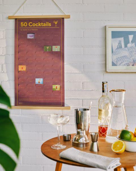 Постер «50 коктейлей, которые нужно попробовать в жизни» DYPOSTCOE