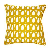 Чехол для подушки с принтом Twirl горчичного цвета и декоративной окантовкой Cuts&Pieces, 45х45 см TK18-CC0006