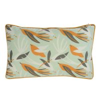 Чехол для подушки мятного цвета с дизайнерским принтом Birds of Nile из коллекции Wild, 30х50 см TK19-CC0004