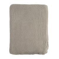 Плед жемчужной вязки серого цвета Essential, 180х220 см TK18-TH0009