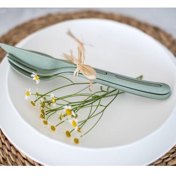 Набор столовых приборов Klikk organic 3 шт цвет серый 4003670