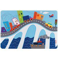 Коврик сервировочный детский On the Road синий 22606752BL