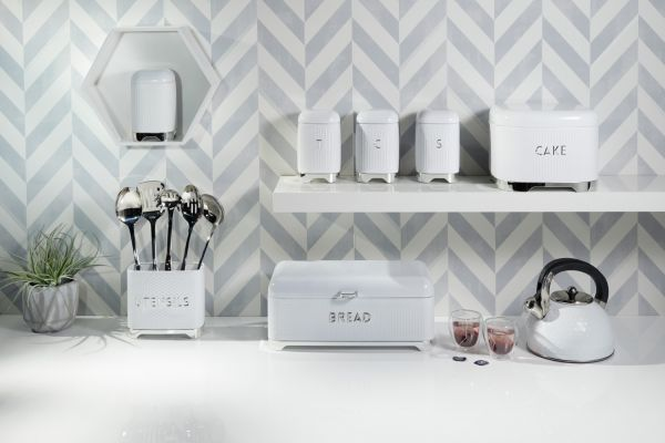 Органайзер Kitchen Craft Lovello Retro Ice White для кухонных принадлежностей LOVUTENWHT