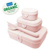 Набор из 3 ланч-боксов и столовых приборов PASCAL Organic розовый 3168669