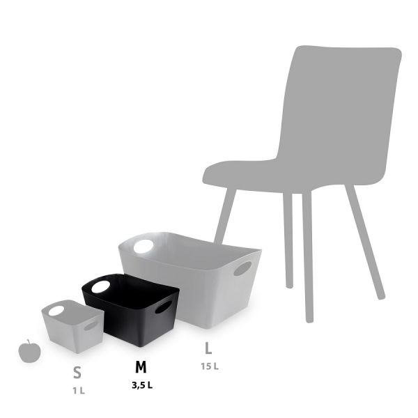 Контейнер для хранения BOXXX M Organic, 3,5 л, серый 5744670