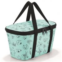 Термосумка детская Coolerbag XS cats and dogs mint UF4062