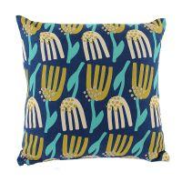 Чехол для подушки темно-синего цвета с графичным принтом Lazy flower Cuts&Pieces, 45х45 см TK18-CC0003