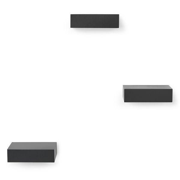Набор из 3 полок Showcase черный 325560-040