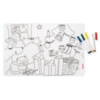 Набор из коврика-раскраски и 4 маркеров Bimbi рождество 22609552