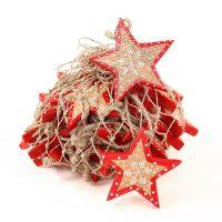 Украшения подвесные Christmas Stars, деревянные, в сетке, 30 шт. en_ny0005