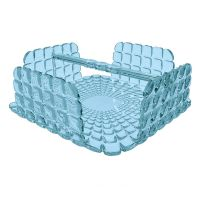 Салфетница Tiffany квадратная голубая 19870081