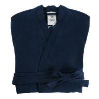 Халат из умягченного льна темно-синего цвета Essential, размер S TK18-BR0005