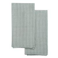 Набор вафельных кухонных полотенец серого цвета из умягченного хлопка из коллекции Essential, 50х70 TK19-TT0005