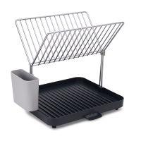 Сушилка для посуды и столовых приборов 2-уровневая со сливом Y-rack серая 85084