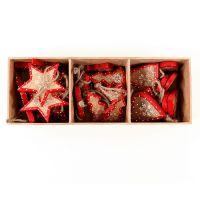 Украшения подвесные Stars/Trees/Hearts, деревянные, в подарочной коробке, 27 шт. en_ny0008