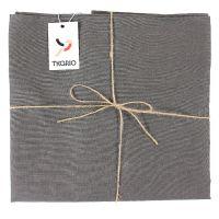 Скатерть на стол из умягченного льна с декоративной обработкой темно-серого цвета TK18-TС0020