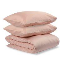 Комплект постельного белья полутораспальный из сатина цвета пыльной розы из коллекции Essential TK19-DC0007