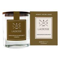 Ароматическая свеча в стекле «Сандал и бергамот» Lacrosse круглая VV040SBLC