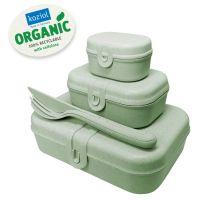 Набор из 3 ланч-боксов и столовых приборов PASCAL Organic зеленый 3168668