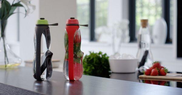 Эко-бутылка Eau Good Duo с фильтром серо-красная EGD-G04