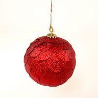 Шар новогодний декоративный Paper ball, красный en_ny0071
