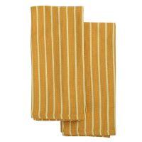 Набор кухонных полотенец цвета шафрана из хлопка из коллекции Essential, 50х70 см TK19-TT0007
