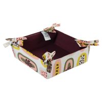 Корзинка для хлеба из хлопка бордового цвета с принтом Passion Fruit из коллекции Wild, 35х35 см TK19-BB0002