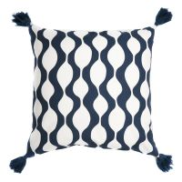 Чехол для подушки с кисточками Traffic, серо-синего цвета Cuts&Pieces, 45х45 см TK18-CC0008