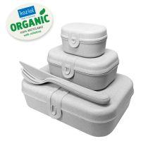 Набор из 3 ланч-боксов и столовых приборов PASCAL Organic серый 3168670