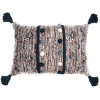 Подушка декоративная с помпонами и кисточками TK18-CU0001