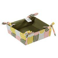 Корзинка для хлеба из хлопка оливкового цвета с принтом Passion Arch из коллекции Wild, 35х35 см TK19-BB0003