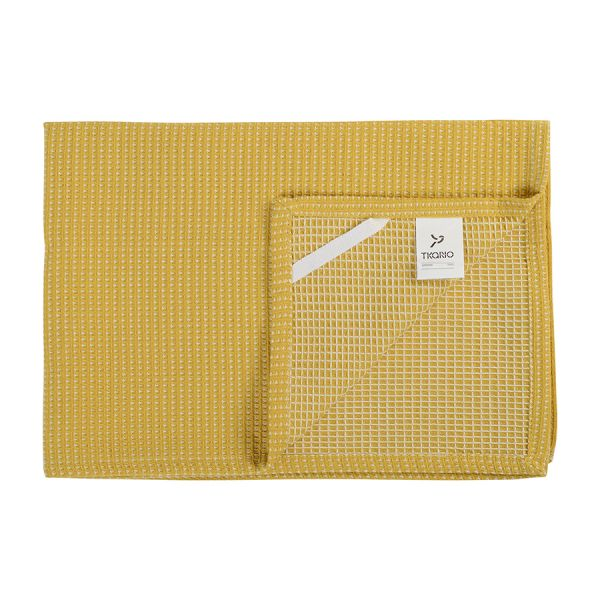 Полотенце вафельное кухонное горчичного цвета из коллекции Essential, 50х70 см TK19-TT0001