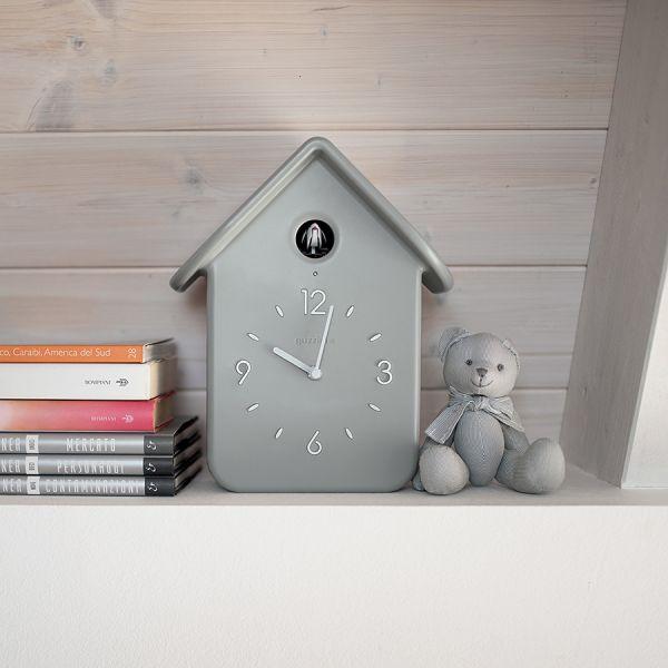 Часы с кукушкой QQ серые 16860208