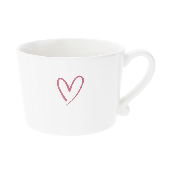 Кружка Bastion Collections White Нeart Red Debossed RJ/CUP 011 RED