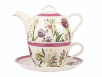 Набор чайник 400 мл,чашка 200 мл с блюдцем  Гималайские цветы (КСО) HIMF00081 Churchill
