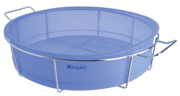 Форма для пирога круглая 25х6 см с металлической подставкой Linea Silicone Regent Inox 93-SI-FO-05