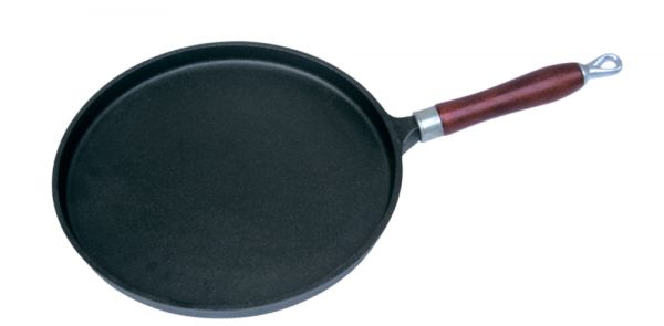 Сковорода блинная с деревянной ручкой 26x2 см Linea FERRO Regent Inox 93-FE-5-26