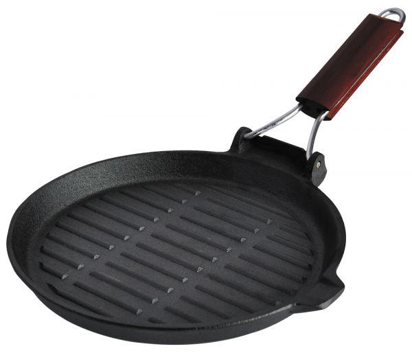 Сковорода-гриль с деревянной ручкой 23х2,3 см Linea FERRO Regent Inox 93-FE-6-23