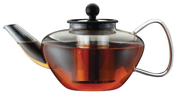 Чайник заварочный стеклянный 1,5л с ситечком Linea Franco Regent Inox 93-FR-TEA-01-1500