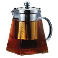 Чайник заварочный стеклянный 0,95л с ситечком Linea Franco Regent Inox 93-FR-TEA-02-950