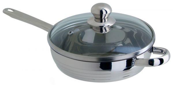 Сковорода Regent Inox LUNA vitro 1,5 л 20x4,5 см со стеклянной крышкой 93-Lv06