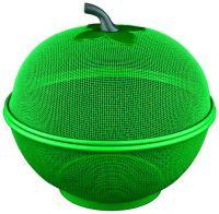 Фруктовница с крышкой зеленая Regent Inox 93-PRO-34-27.2